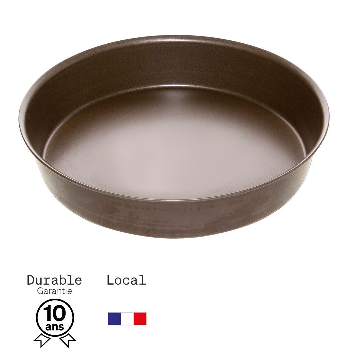 Moule à manqué en métal anti adhérent 8/10 parts 26 cm - Alice Délice