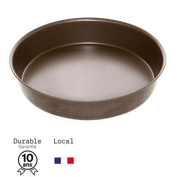 Achat en ligne Moule à manqué en métal anti adhérent 8/10 parts 26 cm - Alice Délice