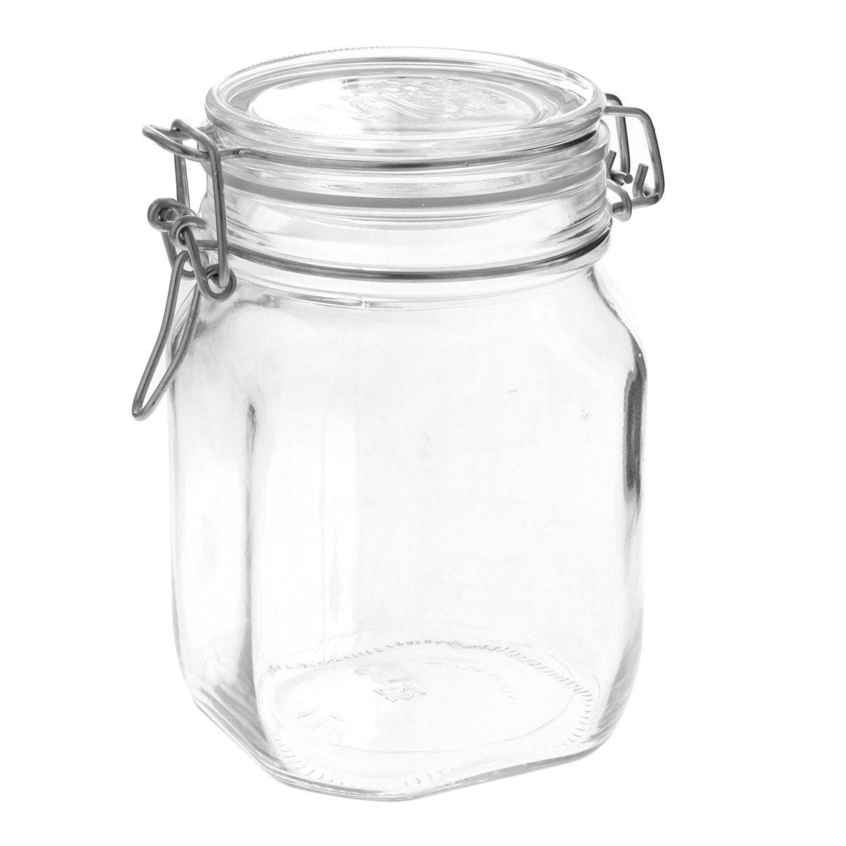 Bocal de conservation hermétique en verre Fido 1L - Bormioli