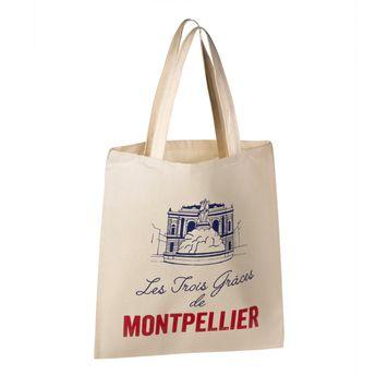 Achat en ligne Totebag Montpellier 100% coton - Tissage de L´Ouest