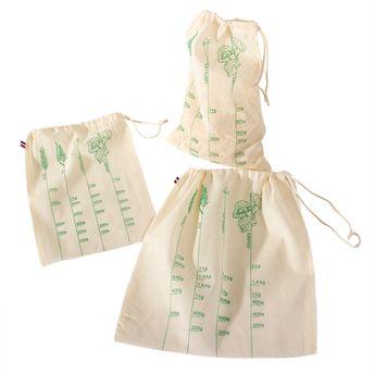 Achat en ligne Lot de 3 sacs à vrac S/M/L en coton bio - Alice Delice