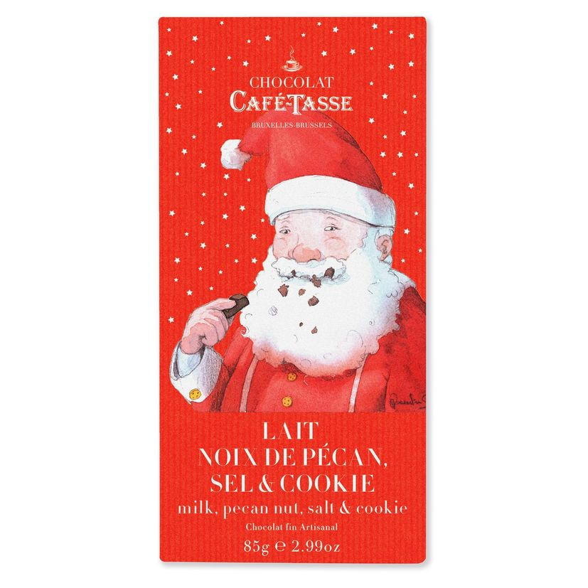 Tablette lait noix de pécan sel & cookie 85g - Cafétasse