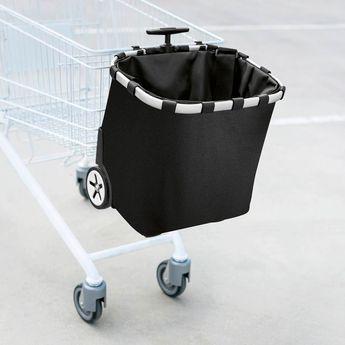 Achat en ligne Cabas de course à roulettes fixation pour chariot et bretelle de transport noire - Reisenthel