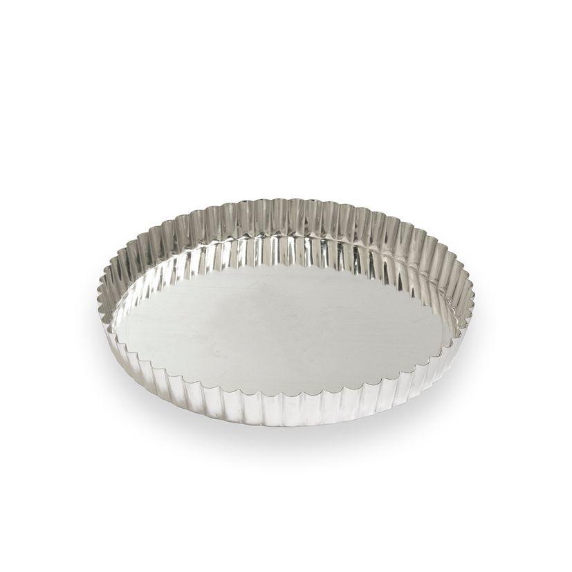 Moule à tarte fer blanc 6/8 parts 24 cm - Alice Délice
