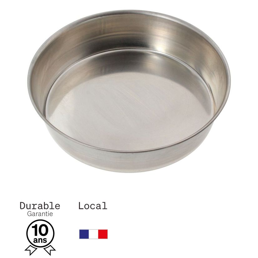 Moule à manqué rond en fer blanc 4/6 parts 20 cm - Alice Délice
