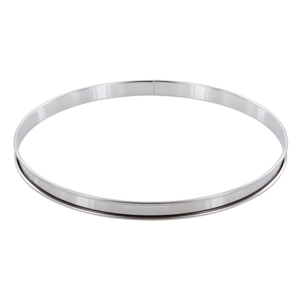 Cercle à tarte en inox 28 cm hauteur 2 cm - Alice Délice