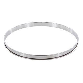 Achat en ligne Cercle à tarte en inox 28 cm hauteur 2 cm - Alice Délice