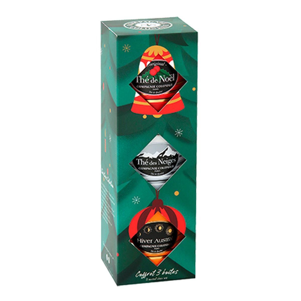 Coffret 3 boîtes 30g Noël Neige Austral - Compagnie Coloniale