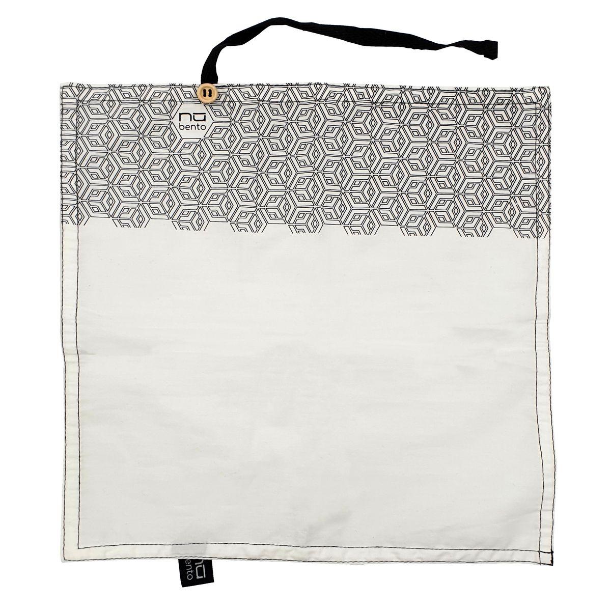 Serviette en coton bio motifs geometriques - Cookut