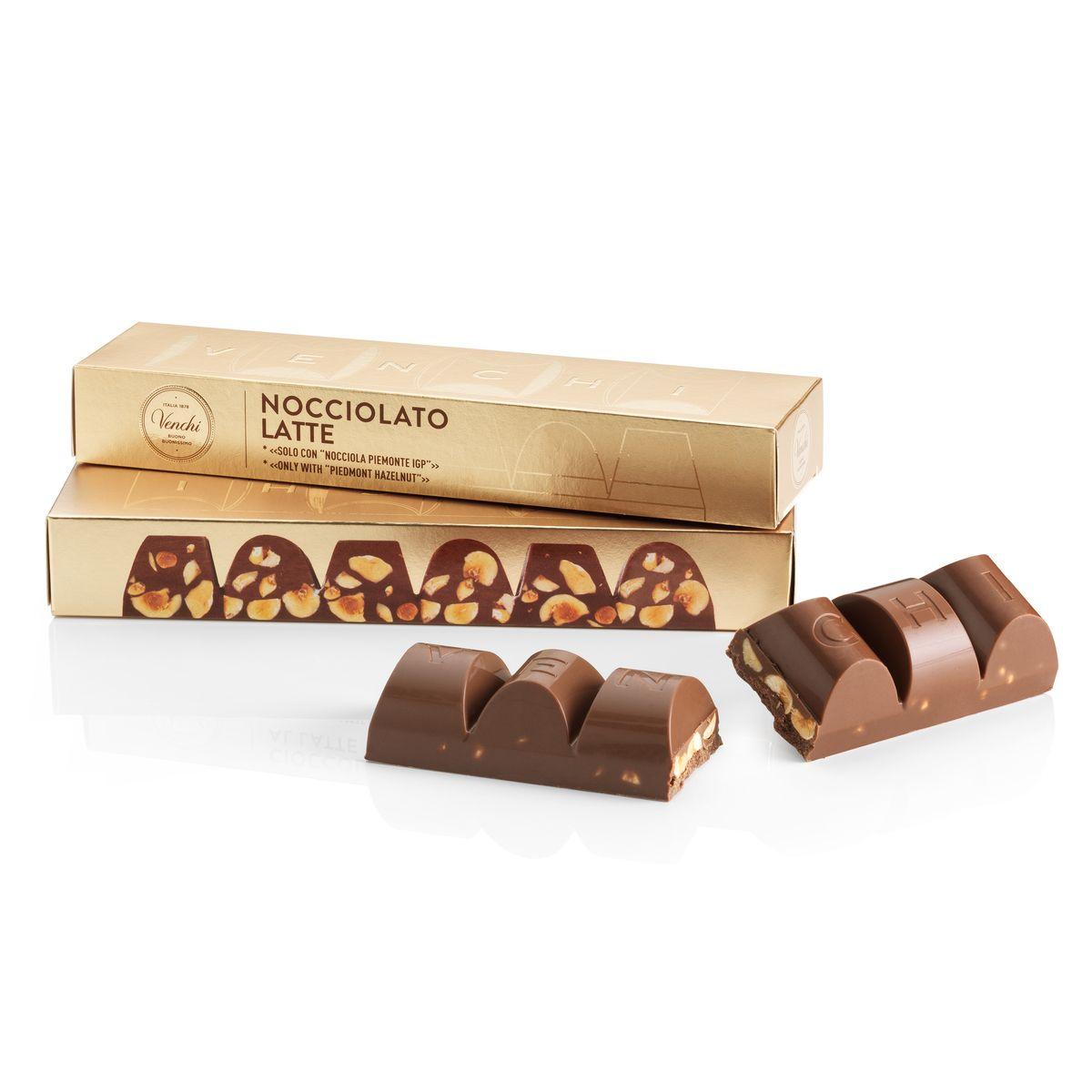 Bloc de chocolat au lait avec noisettes du Piémont - Venchi