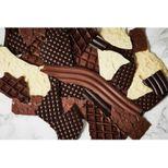4 feuilles de structures en plastique souple pour chocolat - De Buyer
