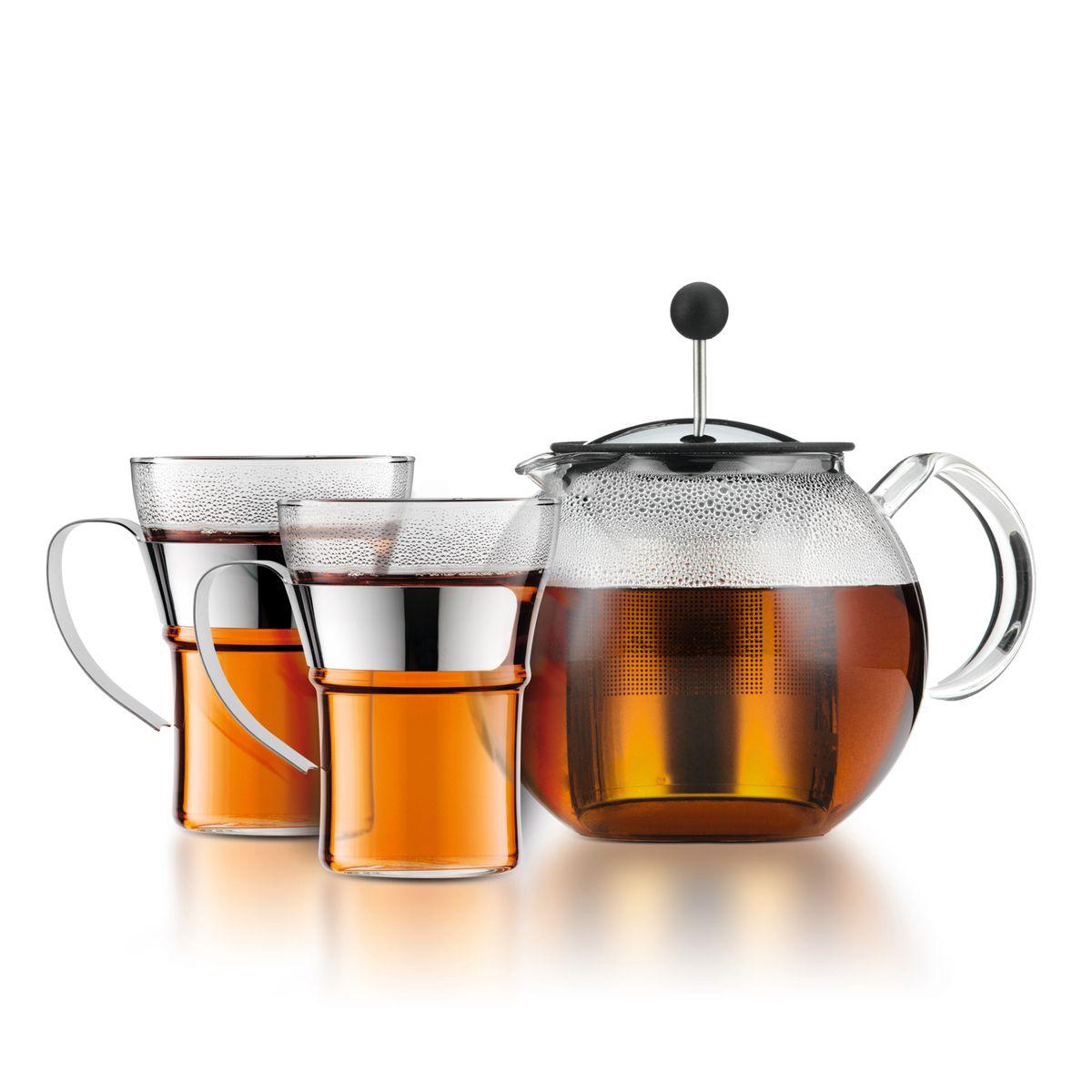 Set Théière Assam 1l avec 2 tasses en verre - Bodum