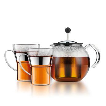 Achat en ligne Set Théière Assam 1l avec 2 tasses en verre - Bodum