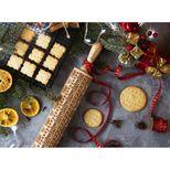 Rouleau à empreintes en bois cadeaux de Noël 25 cm - Alice Délice