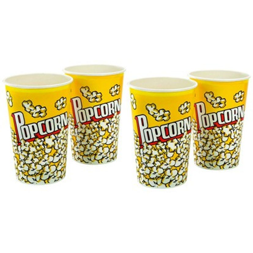 SET 4 GOBELETS POPCORN - CHEVALIER DIFFUSION