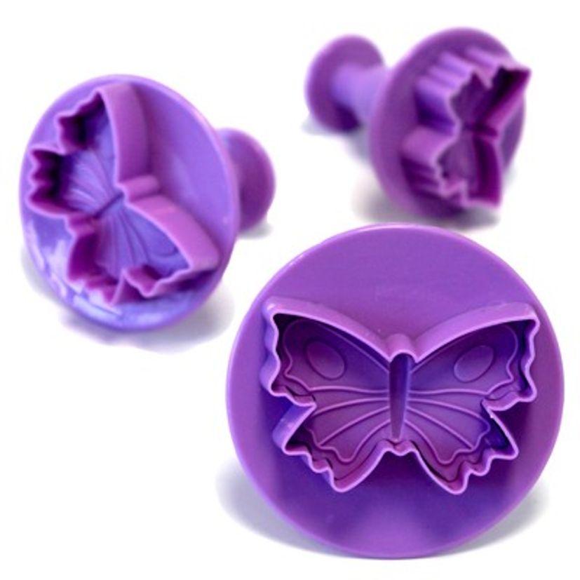 Emporte-pièce éjecteurs - 3 papillons - Alice Délice