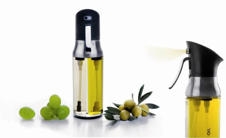 Double vaporisateur huile et vinaigre en plastique 200 ml - Ibili