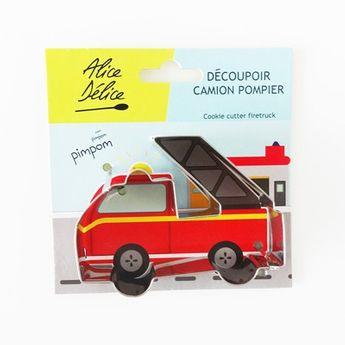 Découpoir inox camion pompier - Alice Délice