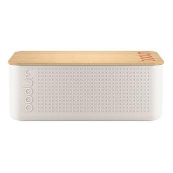 Achat en ligne Boite à pain blanche avec couvercle planche en bambou 14 x 24 x 37 cm - Bodum
