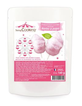 SUCRE POUR BARBE A PAPA ROSE - SCRAPCOOKING