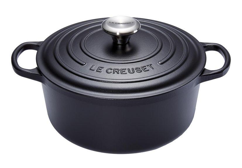 Cocotte en fonte émaillée ronde 24 cm noir  - Le Creuset