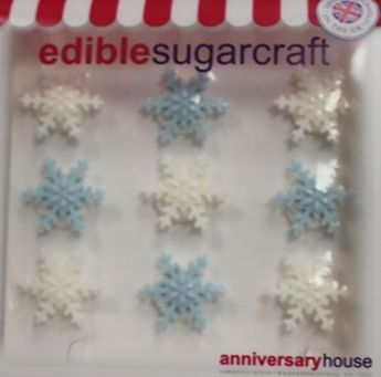 DECORS EN SUCRE MINI FLOCONS - ANNIVERSARY HOUSE