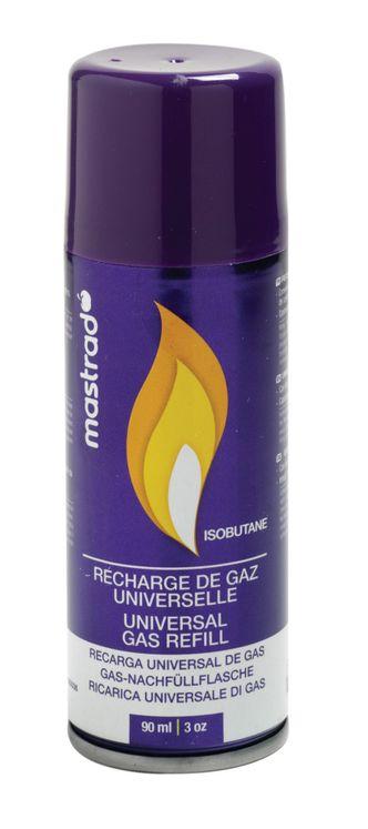 Recharge gaz universelle pour chalumeaux et briquets 250 ml - Mastrad